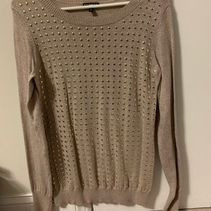 Express sweater with gold studs